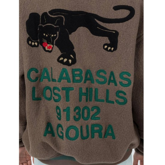 Men's Yeezy Calabasas Bomber Wool Jacket