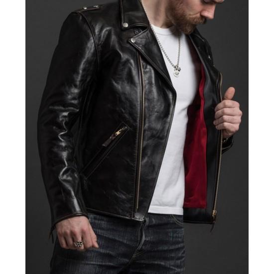Men's Cow-Hide Black Leather Rider's Motorcycle Jacket