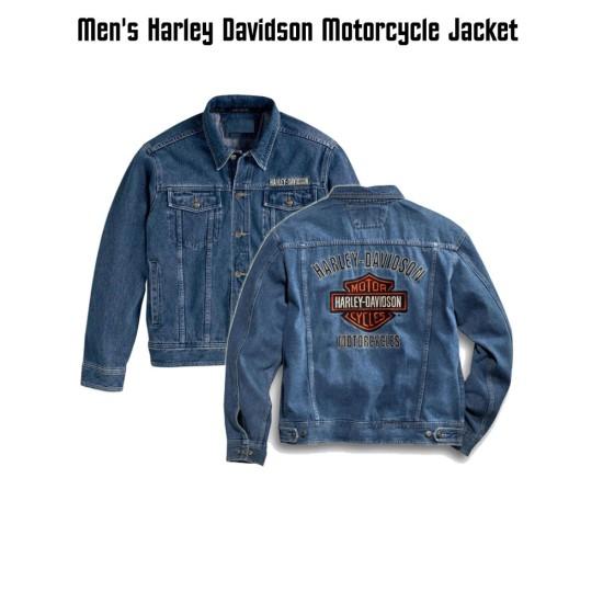 Harley Davidson Denim Bike Rider Jacket