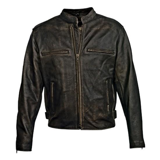 Men's Crazy Horse Motorcycle Leather Jacket