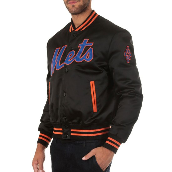 Men's Mets NY Bomber Black Jacket