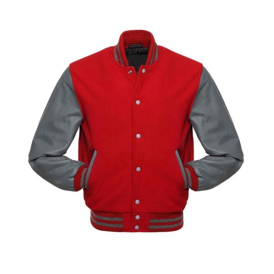 Men's Varsity Grey and Red Jacket