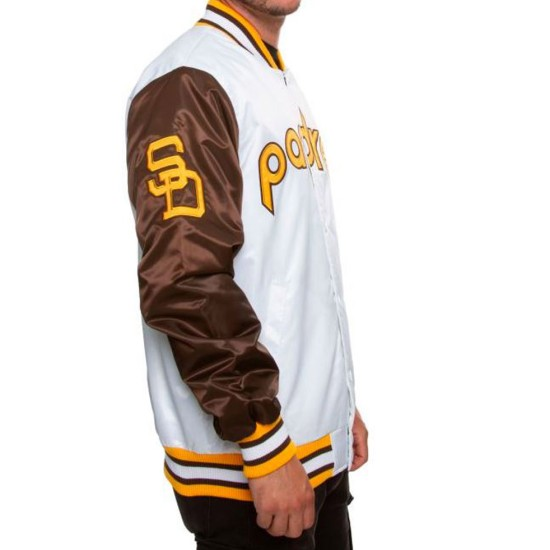 Men's Padres San Diego Brown and  White Jacket