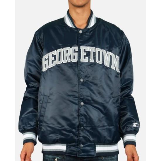 Men's Blue Georgetown Hoyas Bomber Jacket