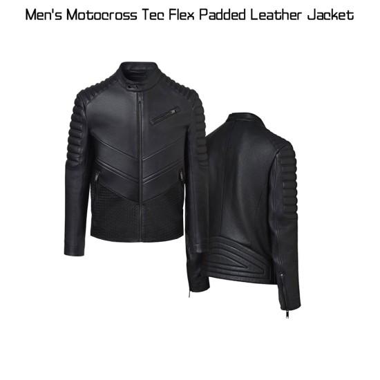 Men's Motocross Tec Flex Padded Leather Jacket
