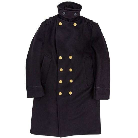 Men's Navy Bridge Double Breasted Coat
