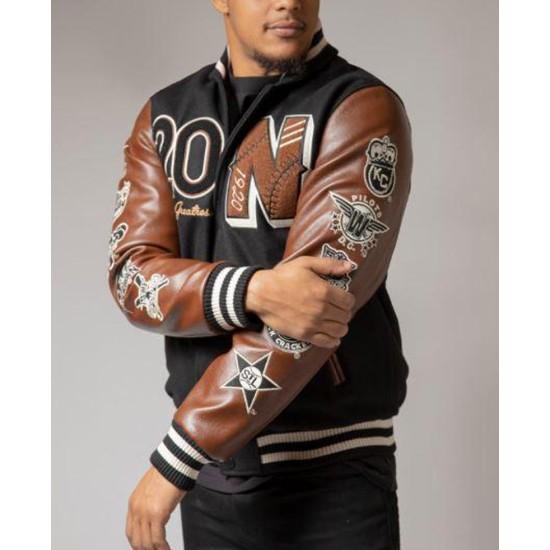 Men's Negro League Baseball Black and Brown Jacket