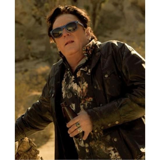 2 Graves In The Desert Michael Madsen Black Leather Jacket