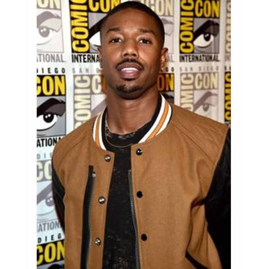 Comic Con Michael B Jordan Varsity Jacket