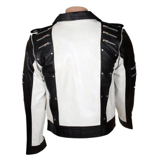 Michael Jackson Pepsi Ad Black and White Leather Jacket