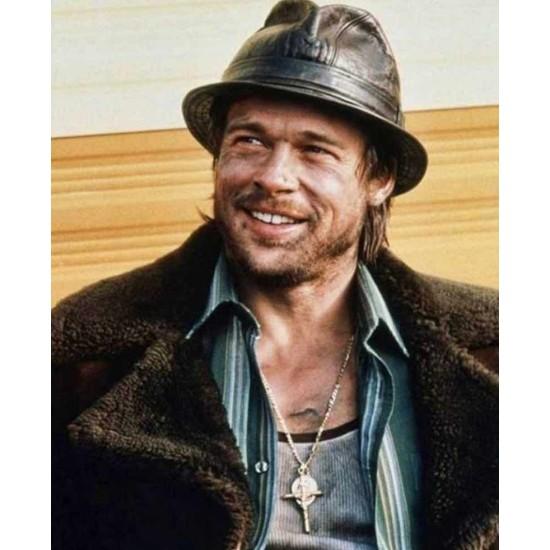 Brad Pitt Snatch Shearling Coat