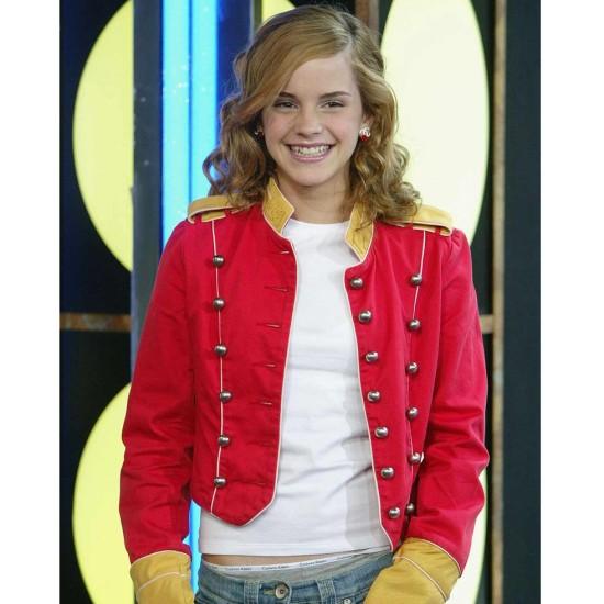 Emma Watson Red and Yellow Jacket