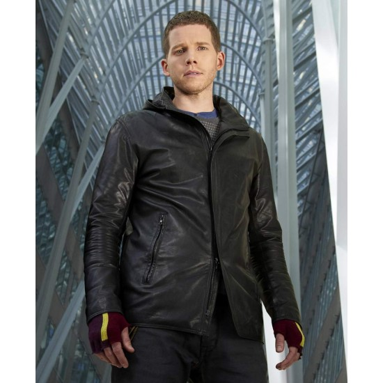 Dash Minority Report Stark Sands Leather Jacket