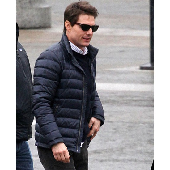 Ethan Hunt Mission Impossible 7 Puffer Blue Jacket