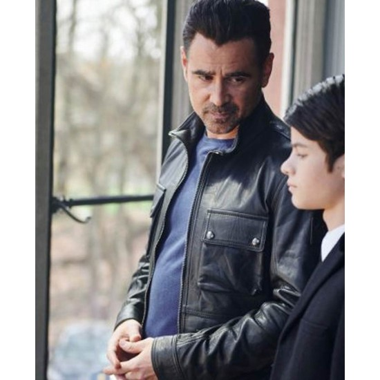 Artemis Fowl Colin Farrell Motorcycle Leather Jacket