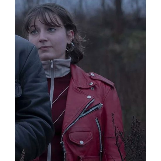 Equinox Fanny Bornedal Red Leather Jacket