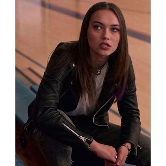 I Am Not Okay with This Sophia Tatum Motorcycle Leather Jacket