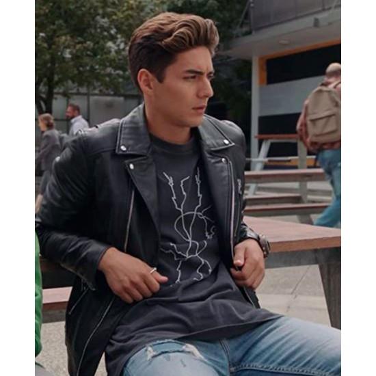 Power Rangers Dino Fury Chance Perez Biker Leather Jacket