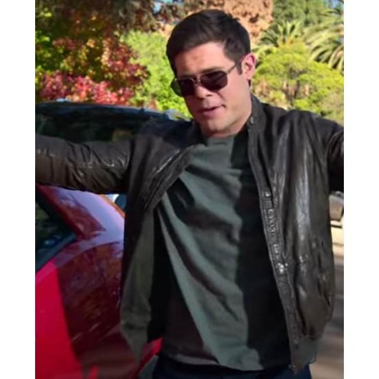 Adam Devine Magic Camp Leather Jacket