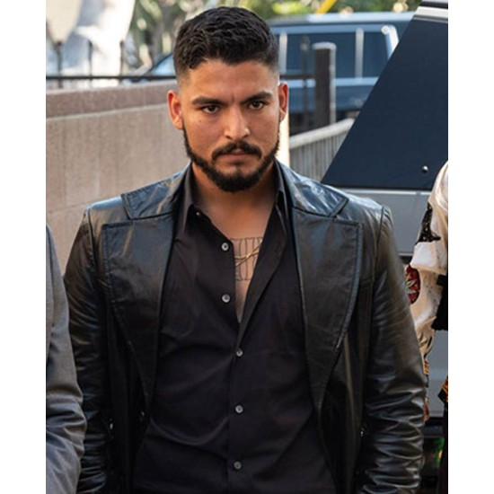 Bobby Soto The Tax Collector Black Leather Coat