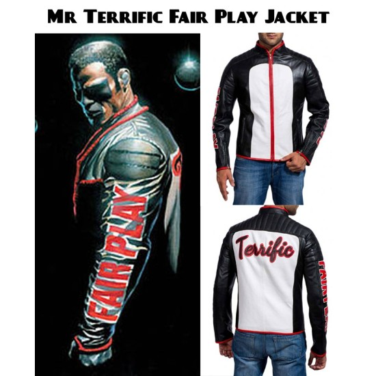 Mr Terrific Fair Play Leather Jacket