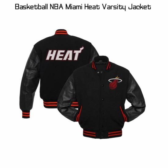 Miami Heat NBA Varsity Bomber Jacket