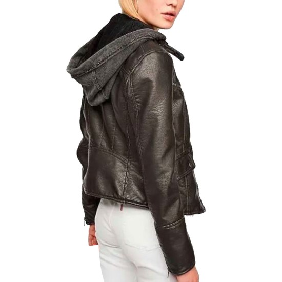 Daniela Ruah NCIS Los Angeles Leather Jacket with Hood