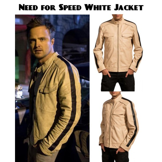 Need for Speed White Leather Jacket