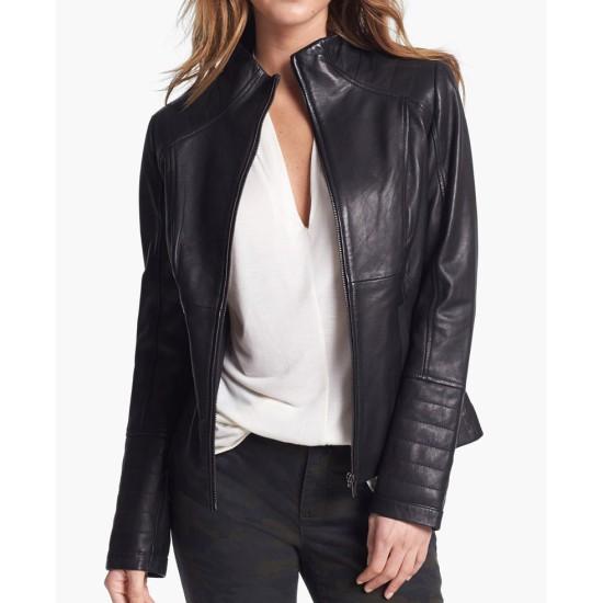 Women's New Stylish Look Casual Black Leather Jacket