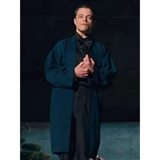 Rami Malek No Time To Die Wool Blue Coat
