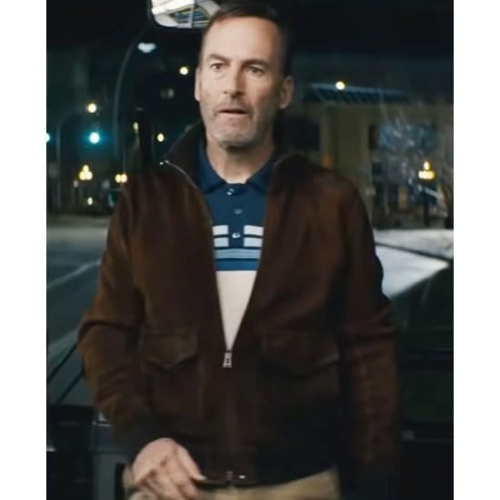 Bob Odenkirk Nobody Bomber Suede Jacket