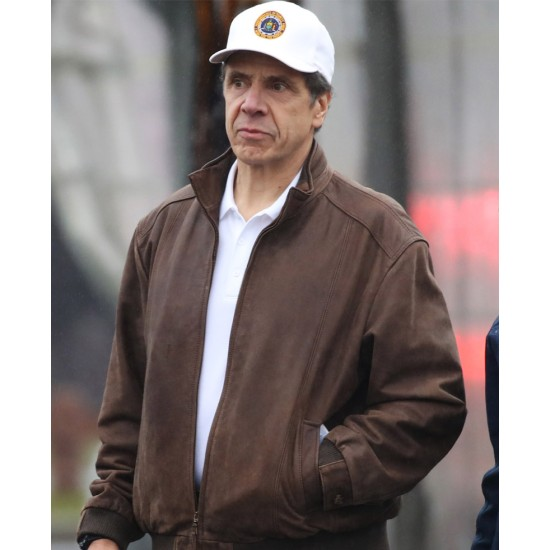Andrew Cuomo NY Governor Leather Jacket