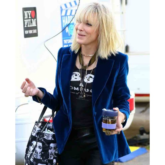 Cate Blanchett Ocean's 8 Blue Jacket