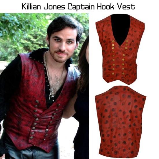 Captain Hook Once Upon a Time Killian Jones Vest