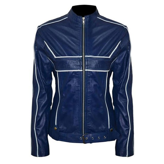 Once Upon a Time Emma Swan Blue Leather Jacket