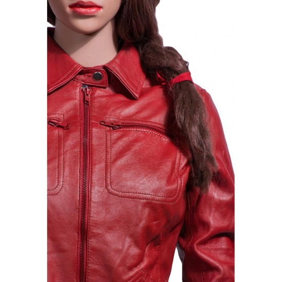 Emma Swan Once Upon a Time Red Leather Jacket