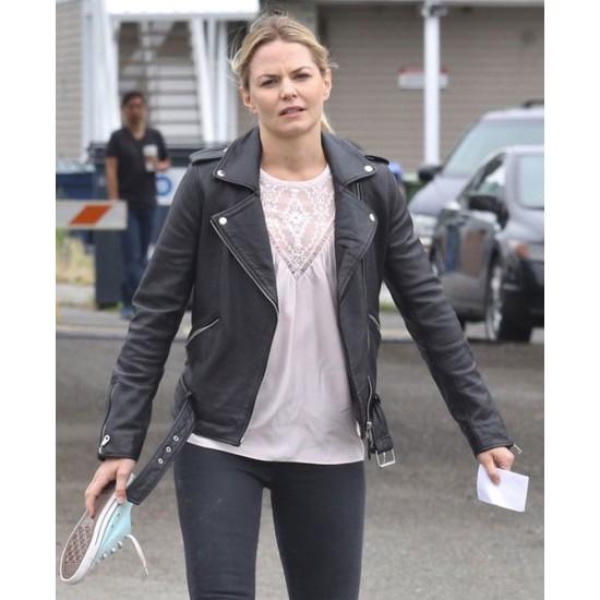 Once Upon a Time Season 6 Emma Swan Black Jacket