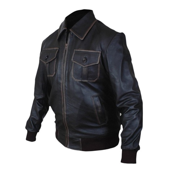 Sheriff Graham Once Upon a Time Brown Leather Jacket