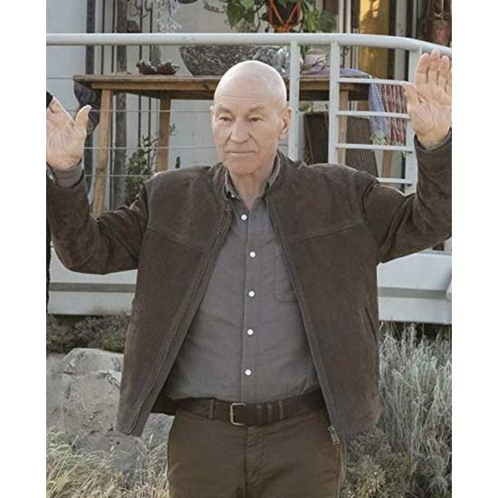 Patrick Stewart Star Trek Picard Brown Jacket