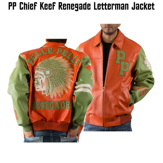 Chief Keef Renegade Pelle Pelle Bomber Leather Jacket