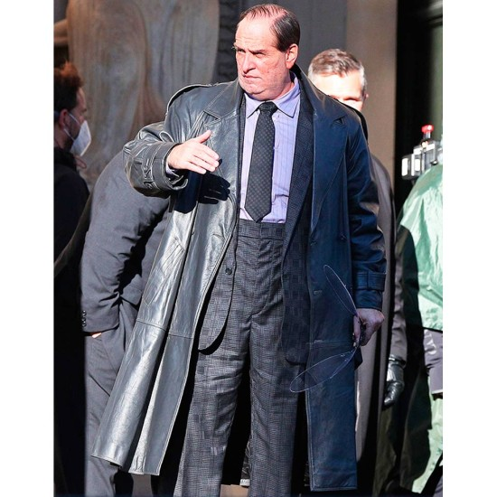 Batman The Penguin Double Breasted Leather Coat