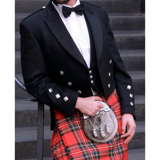 Scottish 3 Button Waistcoat Jacket