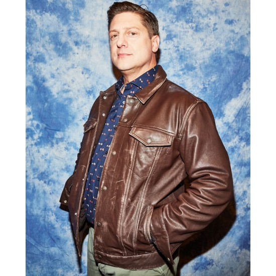 Andrew Rannells The Prom Brown Leather Jacket