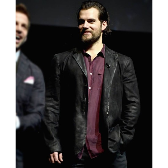 Promote Justice League Henry Cavill Leather Jacket