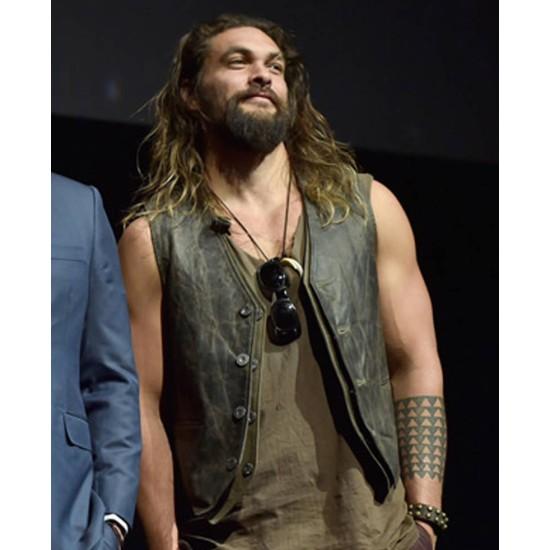 Promote Justice League Jason Momoa Leather Vest