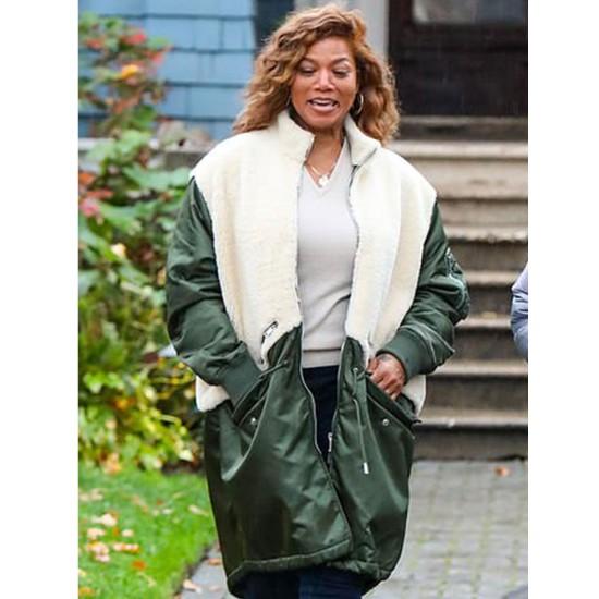 The Equalizer Queen Latifah Fur Satin Coat
