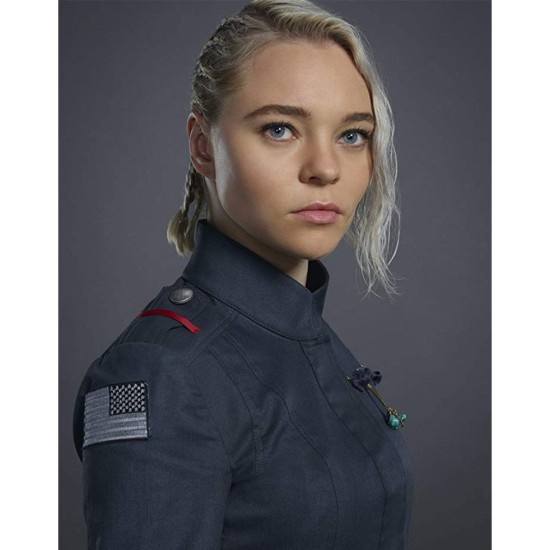 Motherland Fort Salem Taylor Hickson Blue Jacket