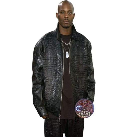 DMX Alligator Black Leather Jacket