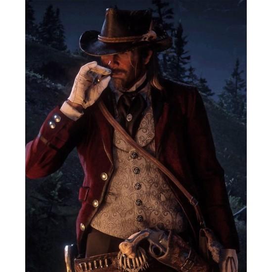 Red Dead Redemption 2 Arthur Maroon Blazer Style Coat