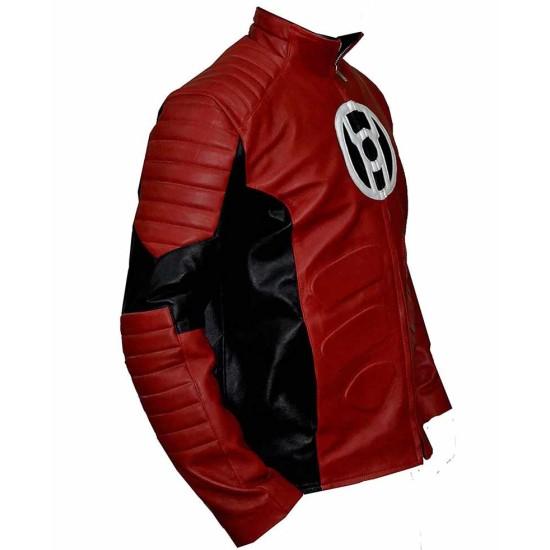 Red Lantern Motorcycle Leather Jacket